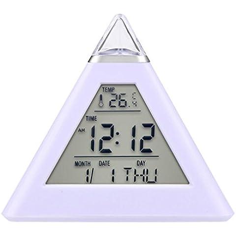 OAGHL Silenciar el triángulo reloj calendario termómetro Color colorido