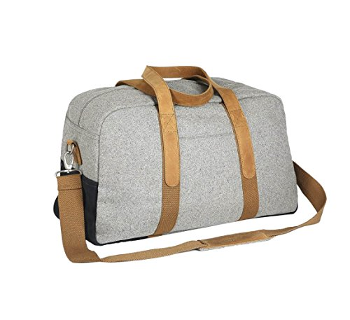 Faguo Bag-Borsa da viaggio 48 lana light-grey-navyf1720