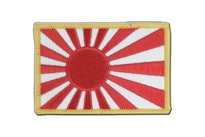 Japan Kriegsflagge Aufnäher, japanische Flagge 6x8cm, MaxFlags®