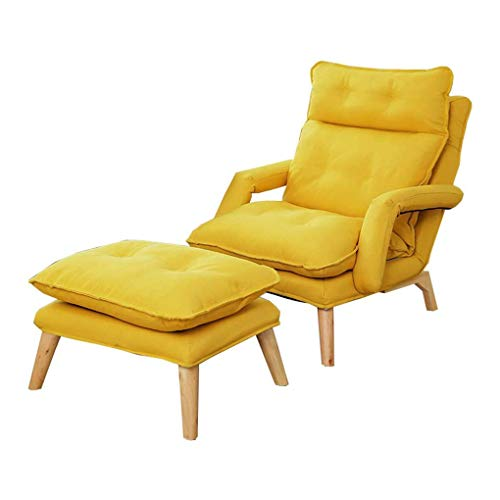 Chair Sofá Plegable Silla de múltiples Funciones Plegable Individual Sillón sólido Marco...