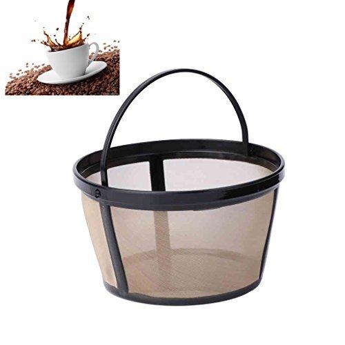 kangnice wiederverwendbar 10-12Tassen Kaffee Filter Hundebett Permanent Metall Mesh Werkzeug BPA-frei (Filter Korb 4 Kaffee Tasse)