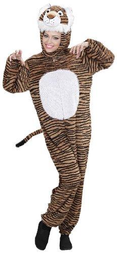 WIDMANN 9942C - Erwachsenenkostüm Tiger, Overall mit Maske, Größe XL