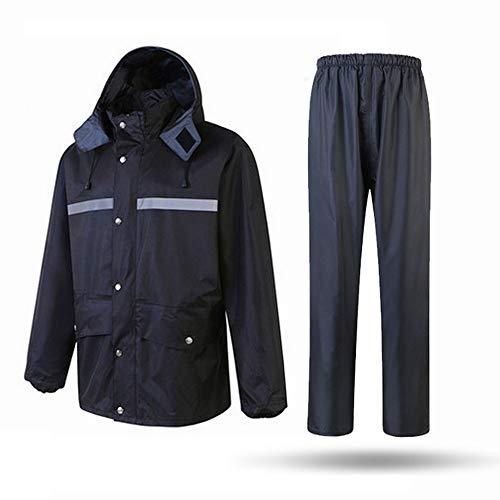 Sicherheitsweste Wasserdichte Regenjacke und Hose, reflektierender Sicherheits-Regenmantel-mit Kapuze Poncho-Anzug für Arbeit Tätigkeit im Freien Reflektierende Schutzanzüge ( Größe : XX-Large ) -