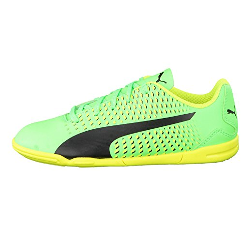 Puma Kinder Fussballschuhe Adreno III IT Jr 104050 green gecko-Puma Black-safety yellow
