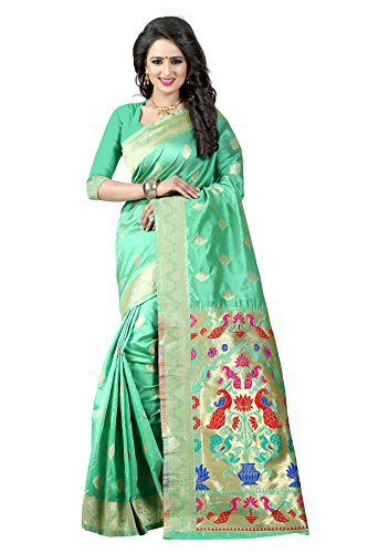 New Arrivals High Quality Women's Traditional Art Silk Saree Kanjivaram Style With...