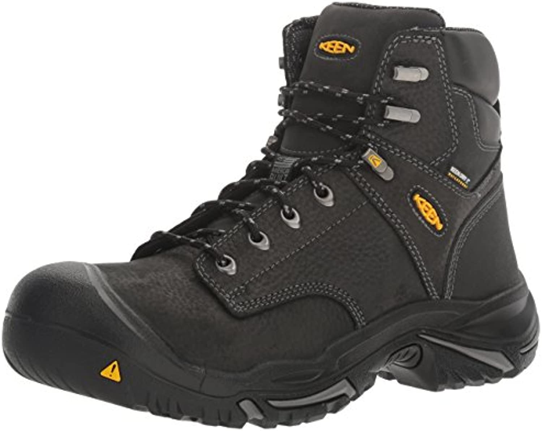 Keen Utility Men's MT. Vernon Mid Industrial and Construction Shoe  Black  8 2E US