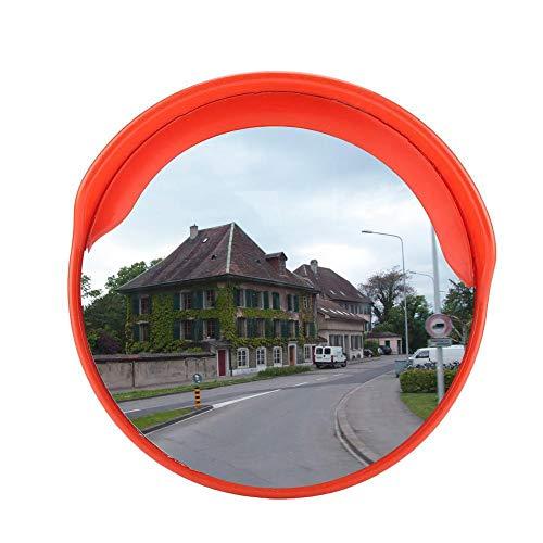 EBTOOLS Specchio Convesso di Sicurezza Specchio panoramicoper, Specchietto Retrovisore la Sicurezza in Strada e per i Negozi, Diametro 45 cm, Arancione