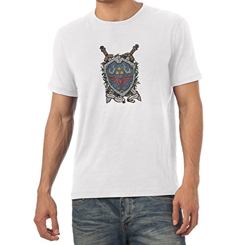 NERDO - Power Courage Wisdom Shield - Herren T-Shirt Weiß