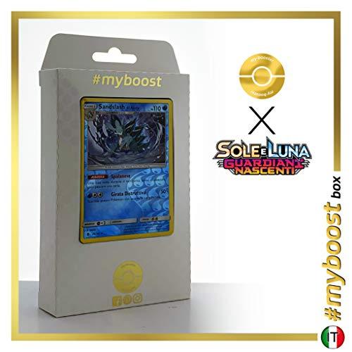 Sandslash di Alola (Sandslash de Alola) 20/145 Holo Reverse - #myboost X Sole E Luna 2 Gardiani Nascenti - Box de 10 cartas Pokémon Italiano