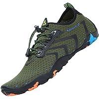 Tmaza Hombre Mujer Secado Rápido Respirable Antideslizante Zapatos de Agua para Vela,Kayak,Buceo,Gr 35-48