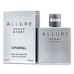 Chanel Allure Homme Sport Eau De Toilette Spray 1.7 Oz (50 Ml)