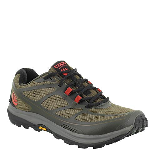 Topo Athletic Terraventure 2Trail Running Shoe-Uomo, Uomo, Olive/Red, 8.5 D(M) US