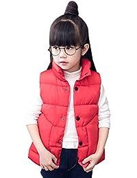 Dongzhiyue Chaleco de Invierno Chaqueta Acolchado Forrada Calentito para Niño Niña Unisex Vest - 4 Colores, 5 Tallas para Elegir