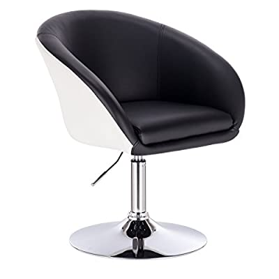 Woltu 1 Set Faux Leather Armchair with Arm and Back Swivel Bar Stool Kitchen Stool Breafast Bar Stool sofa Gas Strut Tub Chair Adjustable Seat height:44 to 57cm by Woltu