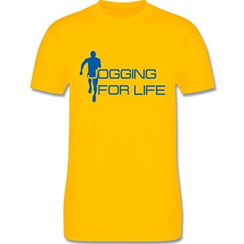 Laufsport - Jogging for Life - Herren Premium T-Shirt Gelb