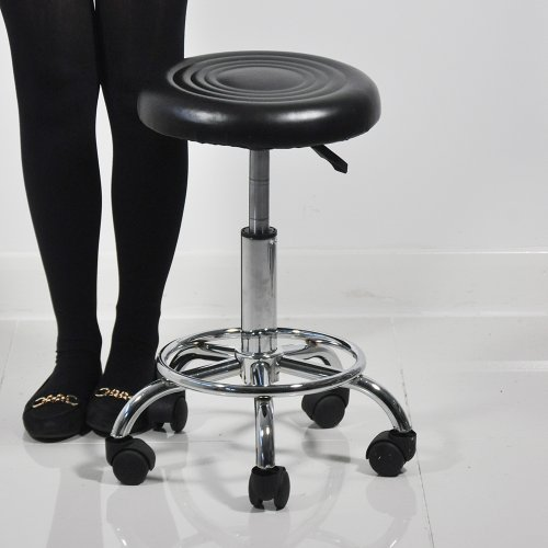 Heaven Beauty Therapy Dentist Black Leather Swivel Stool Professional Salon Equipment