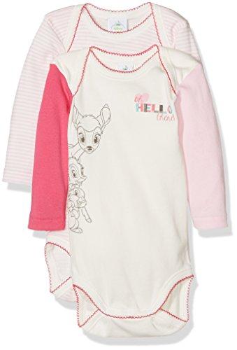Absorba 6I60206, Body para Bebés, Rose (Camelia), 12 meses(Pack de 2)