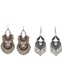2a851953d Tiaraz Fashion Stylish Oxidised Afghani Tribal Fancy Party Wear Earrings  for Girls and Women (Silver