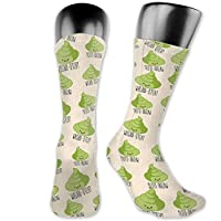 Wasabi Poo Emoji Crazy Socks Polyester Crew Socks Dress Socks,40cm athletic socks