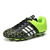 881c3ef7bcc5 WOJIAO Fashion Men and Kids Soccer Boots Outdoor Sports Long Spikes  Professional Soccer Shoes Mens Football