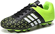 WOJIAO Fashion Men and Kids Soccer Boots Outdoor Sports Long Spikes Professional Soccer Shoes Mens Football Sh