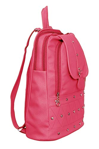 GARIB NAWAZ BAGS Mayena Collection Women's Pink Canvas Backpack Image 2