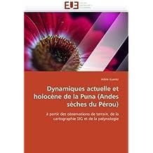 Dynamiques actuelle et holoc???ne de la Puna (Andes s???ches du P??rou): ?? partir des observations de terrain, de la cartographie SIG et de la palynologie by Ad???le Kuentz (2010-09-03)