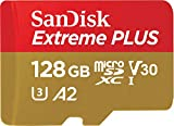 SanDisk Extreme 128 GB microSDXC Speicherkarte + SD-Adapter bis zu 100 MB/Sek,Schwarz, Class 10, U3, V30, A2