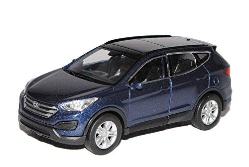 Hyundai Santa Fe Blau Grau Typ DM 3. Generation Ab 2012 ca 1/43 1/36-1/46 Welly Modell Auto