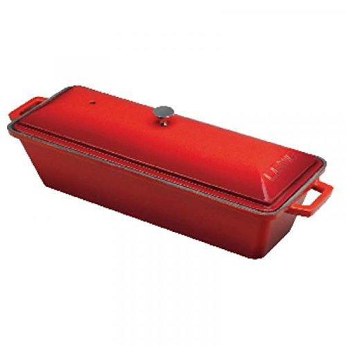 Pasteten-Pfanne Cm 8,5x26,5 h.6 Gusseisen Rot