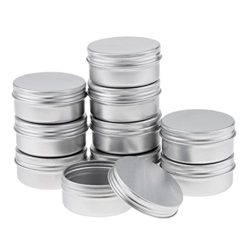 10x50ML Tragbar Runde Leere Kosmetikdose Makeup Container Lebensmittel Töpfe Zinn, aus Aluminium