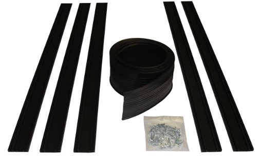 Auto Care Products 54020 20-Feet Garage Door Bottom Seal Kit with Track and Mounting Hardware by Auto Care Products (Door Seal Kit Garage Bottom)