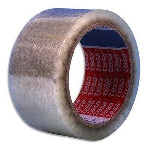 tesa Klebeband/Verpackungsband, Polypropylen, ohne Lösungsmittel Endschalldämpfer 100x 50cm, transparent, 6Stück