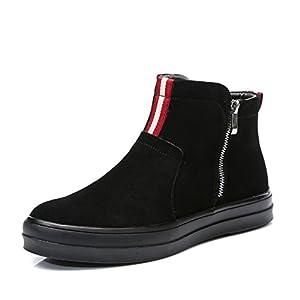 Botín de los hombres Zapatos del ocio coreano del Zapatos de hombre slip-on-B Longitud del pie=24.8CM(9.8Inch)