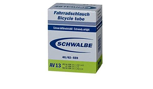 "25-40//559 DV12a DV-40 schwarz Fahrrad Schwalbe Schlauch 26/"""