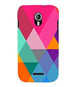 Graphic Color Pattern 3D Hard Polycarbonate Designer Back Case Cover for Micromax Canvas Magnus A117