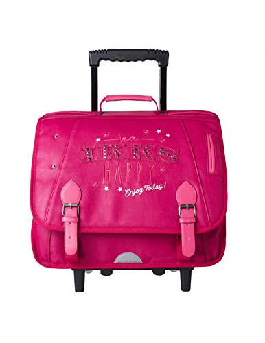 Cartable Trolley Fille IKKS HAPPY 38cm Rose