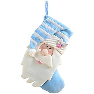 WeRChristmas – Calcetín navideño (45 cm, diseño de Papá Noel), Color Azul y Crema