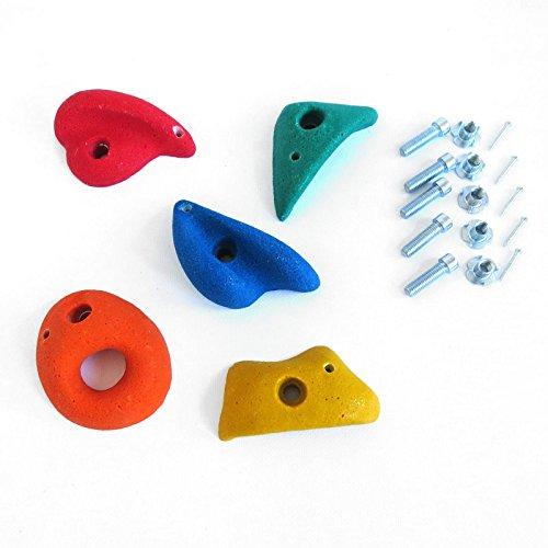 Preisvergleich Produktbild 5 St. Klettersteine mittel bunt mit Drehsicherung Set von Gartenpirat®