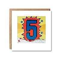 James Ellis - Age 5 Kapow Shakies Birthday Card - PK2799