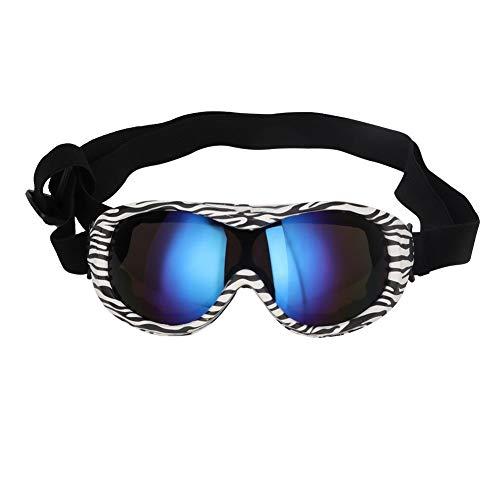 Bicaquu Mittelgroße UV-Hundebrille Sonnenbrille Haustier Skifahren Schutzbrille Brille(03)