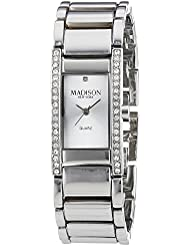 MADISON NEW YORK Damen-Armbanduhr Diamond Way Analog Quarz Edelstahl L3208J20