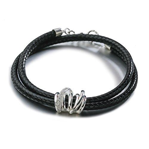 silverage-sterling-silber-schwarz-leder-wickelarmband