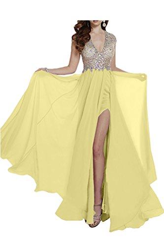 Missdressy -  Vestito  - linea ad a - Donna Giallo