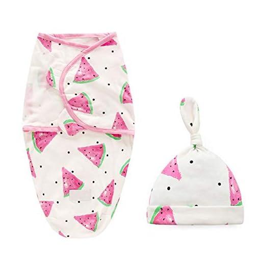 BOBORA-Newborn-Baby-Swaddle-Sleepsacks-Unisex-Adjustable-Cotton-Wrap-Swaddle-Sleeping-Bags-with-Hats-for-0-6Months