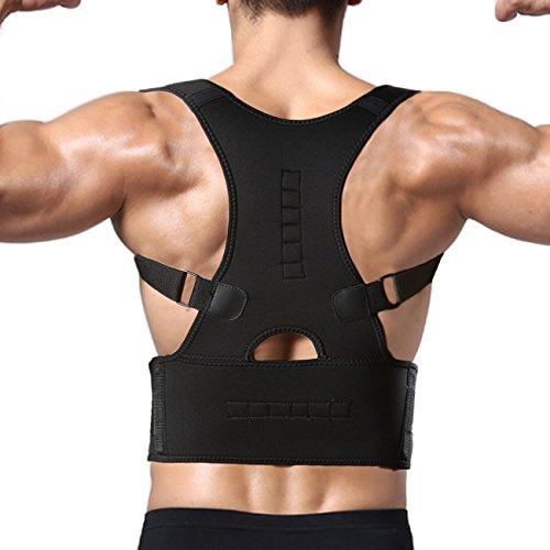 ab412e574a FITTOO Adjustable Magnetic Posture Corrector Back Shoulder Lumbar Waist  Support Belt for Men and Women -