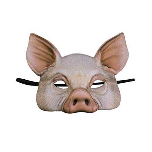 Toyvian Halbe Gesichtsmaske Schwein Maske für Party Festival Maskerade Phantasie Ball Cosplay
