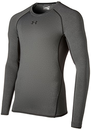 Under Armour Herren Unterhemd HeatGear Armour, Grau (carbon heather), Gr. XL (Herstellergröße: XL)