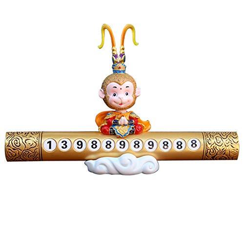AxssjS Cartoon-Affenkönig Auto-Styling temporärer Stopp-Telefonnummer, Parkkarte, Dekoration Monkey Telefon