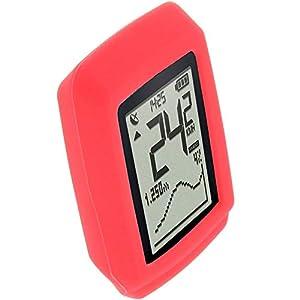 foto-kontor Funda para Sigma Pure GPS Protectora Silicona Carcasa protección roja